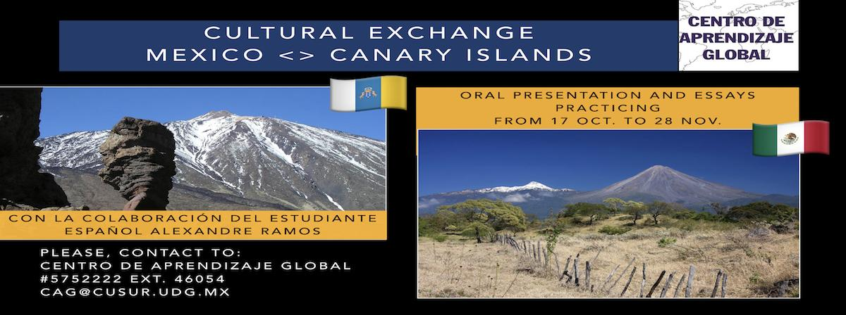 Invitation Cultural Exchange Mexico - Canary Islands 2017