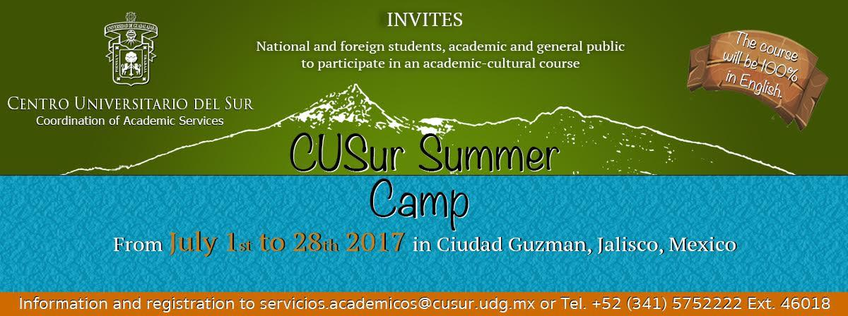 Invites national and foreign students, academic and general public to participate in academic-cultural course  CUSur Summer Camp.
