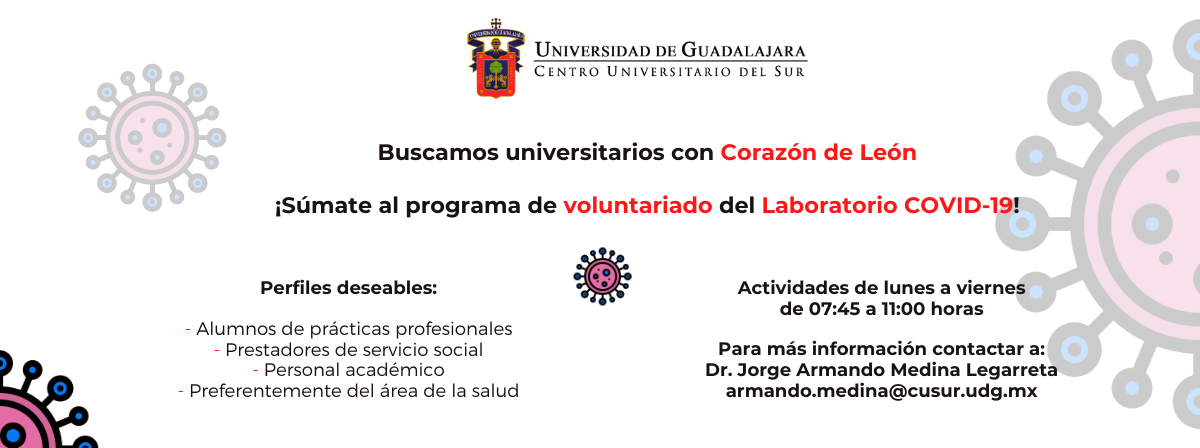 Convocatoria Voluntariado para el Laboratorio COVID-19
